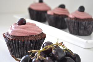 Cupcake de Chocolate com Vinho Tinto