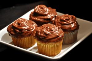 Cupcake de Banana com Nutella