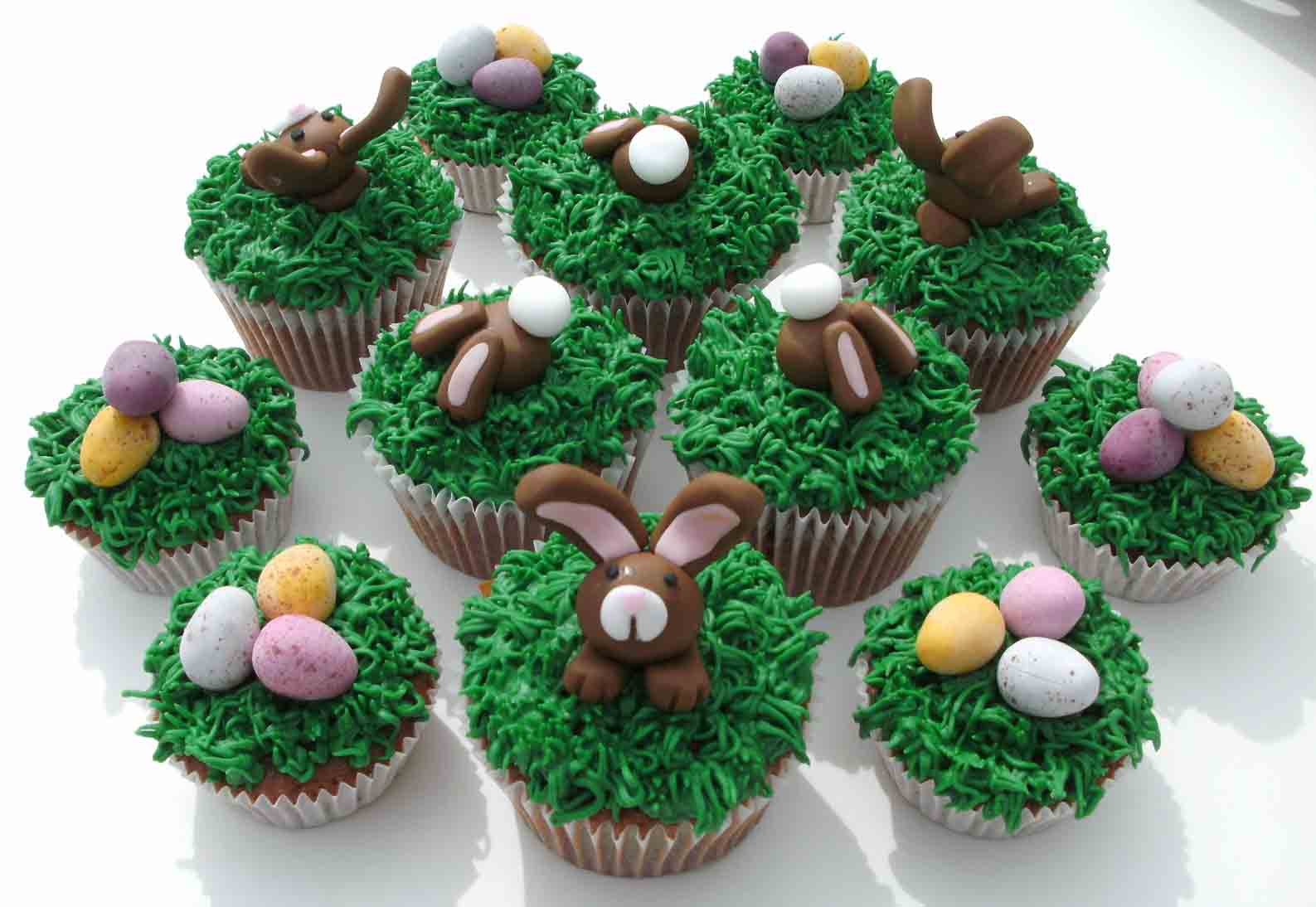 Cupcakes de p scoa receita de cupcake for Cute cupcake decorating ideas for easter