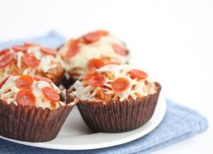 Cupcake Salgado de Pizza