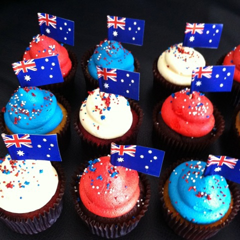 Cupcakes da copa do mundo receita de cupcake for Australia day decoration ideas
