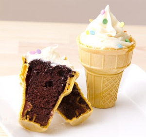 Cupcake na Casquinha