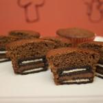 Cupcake com Recheio de Bolacha e Nutella